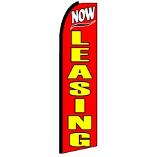 Now Leasing - Advertising Feather Flag Banner