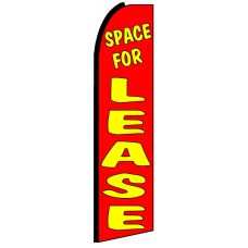 Space For Lease - Advertising Feather Flag Banner