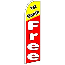 First Month Free - Advertising Feather Flag Banner