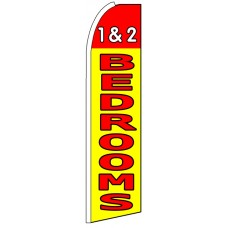 1 & 2 Bedrooms - Advertising Feather Flag Banner