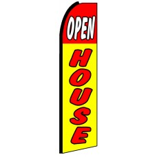 Open House - Yellow Feather Flag Banner