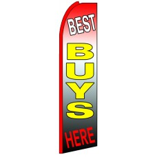 Best Buys Here - Advertising Feather Flag Banner