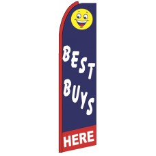Best Buys Here - Blue Feather Flag Banner