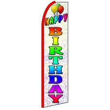 Happy Birthday - Advertising Feather Flag Banner