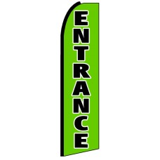 Entrance - Advertising Feather Flag Banner