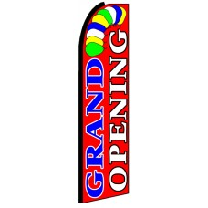 Grand Opening - Red Feather Flag Banner