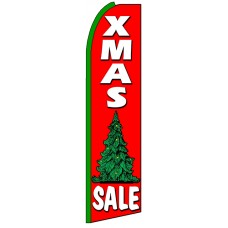 X-mas Sale - Advertising Feather Flag Banner