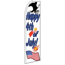 Happy 4th of July - Feather Flag Banner