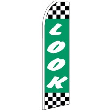 Look - Advertising Feather Flag Banner