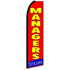 Managers Special - Red Feather Flag Banner