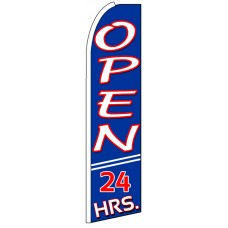 Open 24 Hours - Advertising Feather Flag Banner