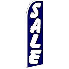 Sale - Blue Advertising Feather Flag Banner