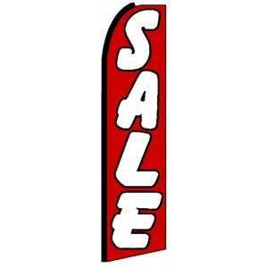 Sale - Red Advertising Feather Flag Banner