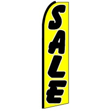 Sale - Yellow Advertising Feather Flag Banner