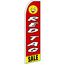 Red Tag Sale - Advertising Feather Flag Banner
