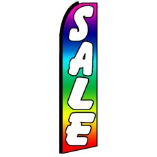 Sale - Rainbow Advertising Feather Flag
