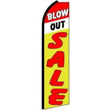 Blowout Sale - Advertising Feather Flag Banner