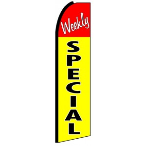 Weekly Special - Advertising Feather Flag Banner
