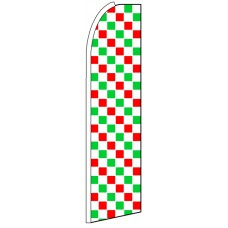 Red White Green - Feather Flag Banner