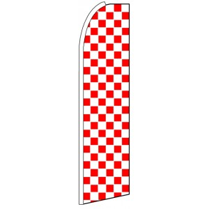 Red & White Checkers - Feather Flag Banner